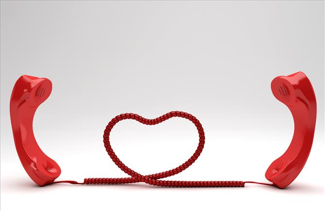 long distance relationship heart phone